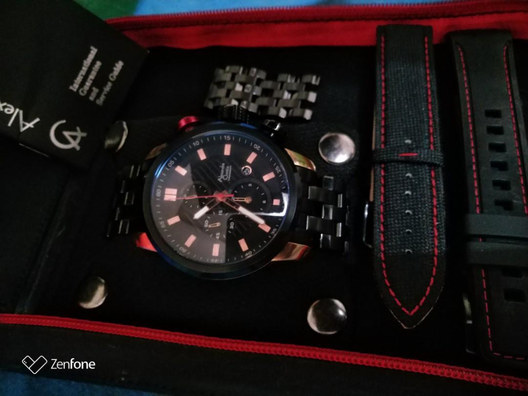 #mauthr jam tangan pria Alexander Christie