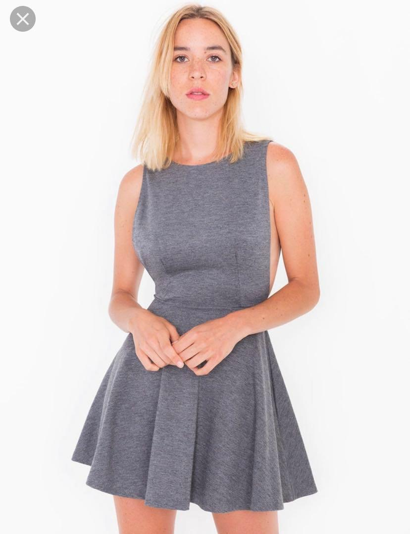American apparel open back and side dress size small