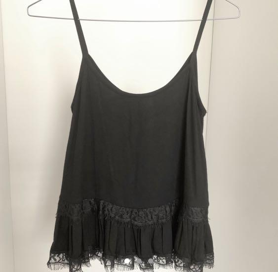 ATMOS & HERE - Black Cami with Lace  (from THE ICONIC)