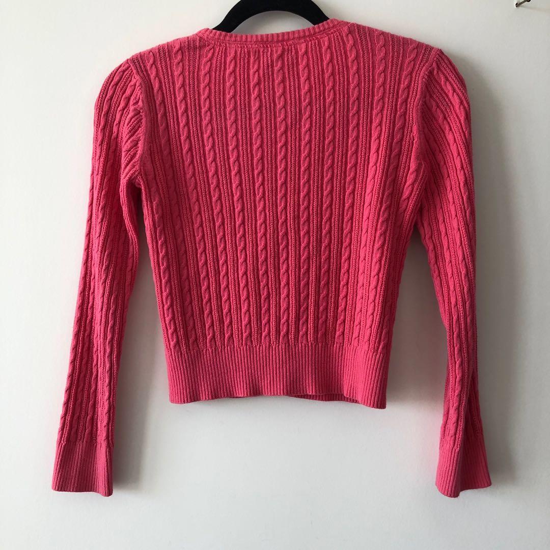 Baby Hot Pink Knit Cardi