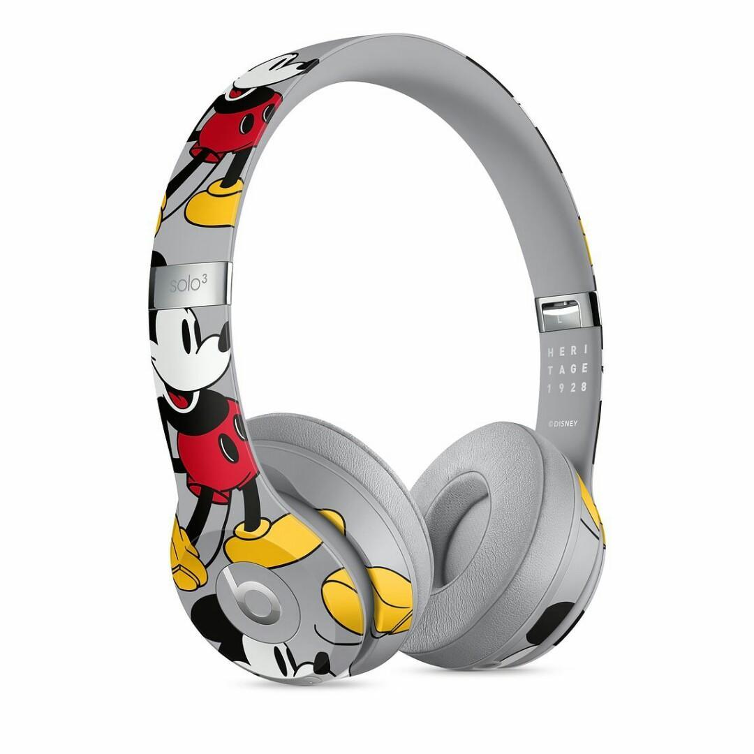 Beats Solo3 Wireless 頭戴式耳機 - 米奇 90 週年版本