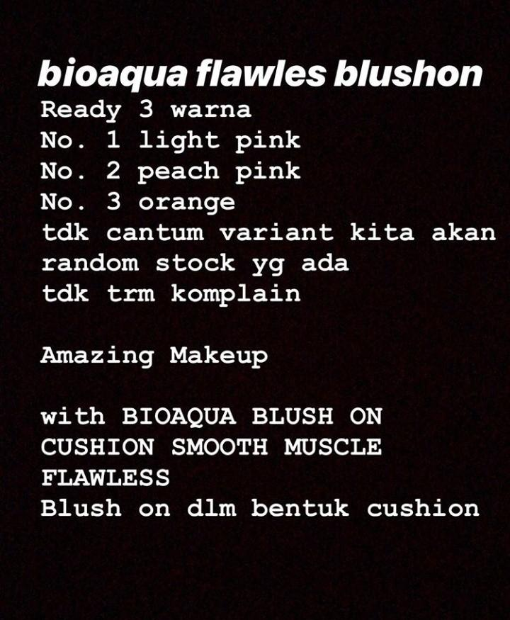 Bioaqua flawless blush-on