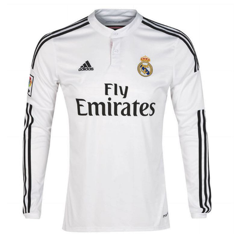 finest selection 89f4e 3f93a [BNWT] Real Madrid 2014/15 Long Sleeve Jersey