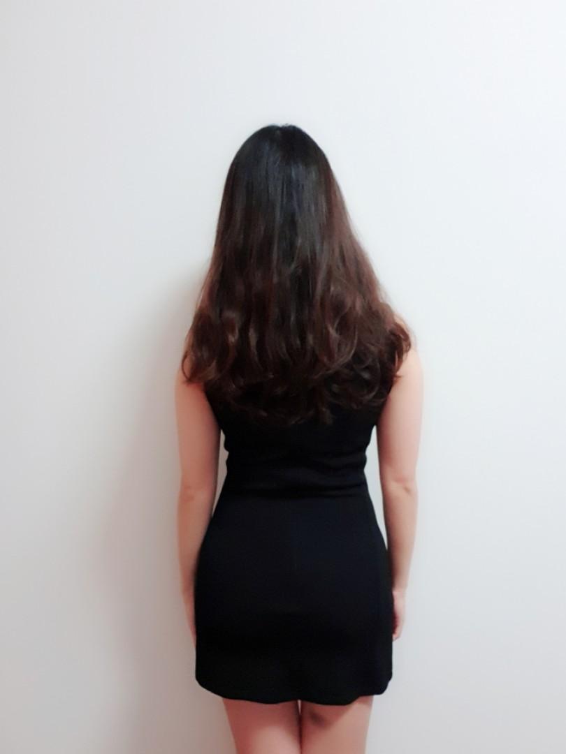 Bodycon mini black dress