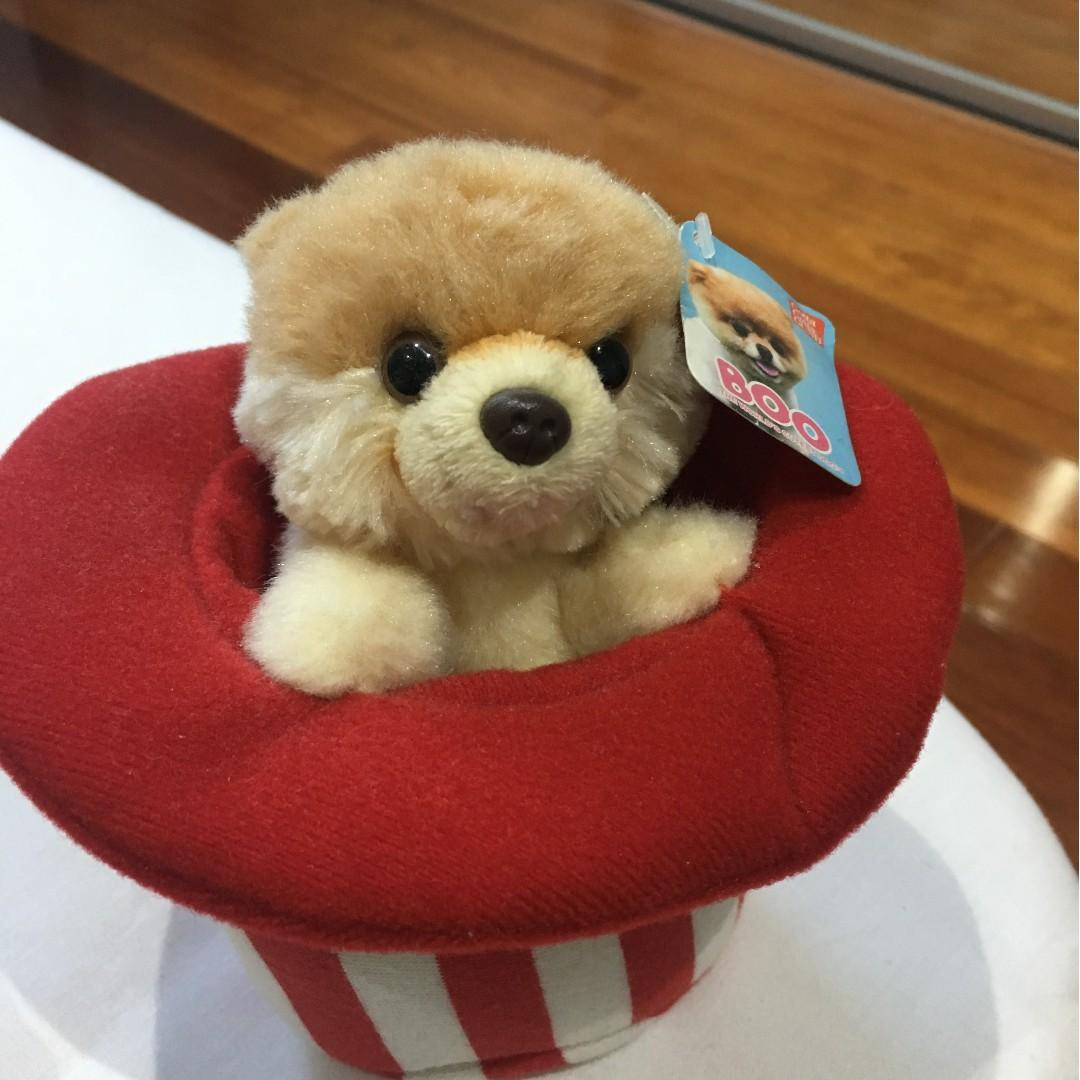 Boo - The World's Most Famous Dog - SOFT TOY IN A HAT BRAND NEW WITH TAGS