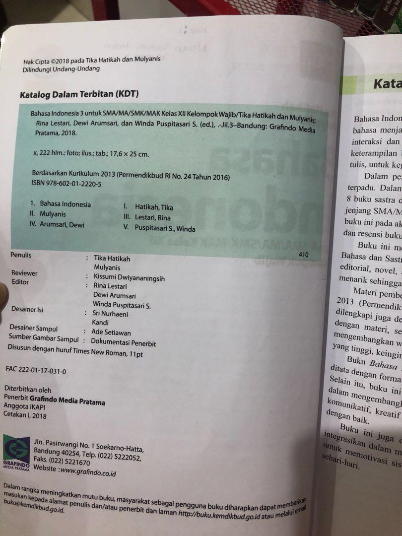 Buku cetak bahasa indonesia