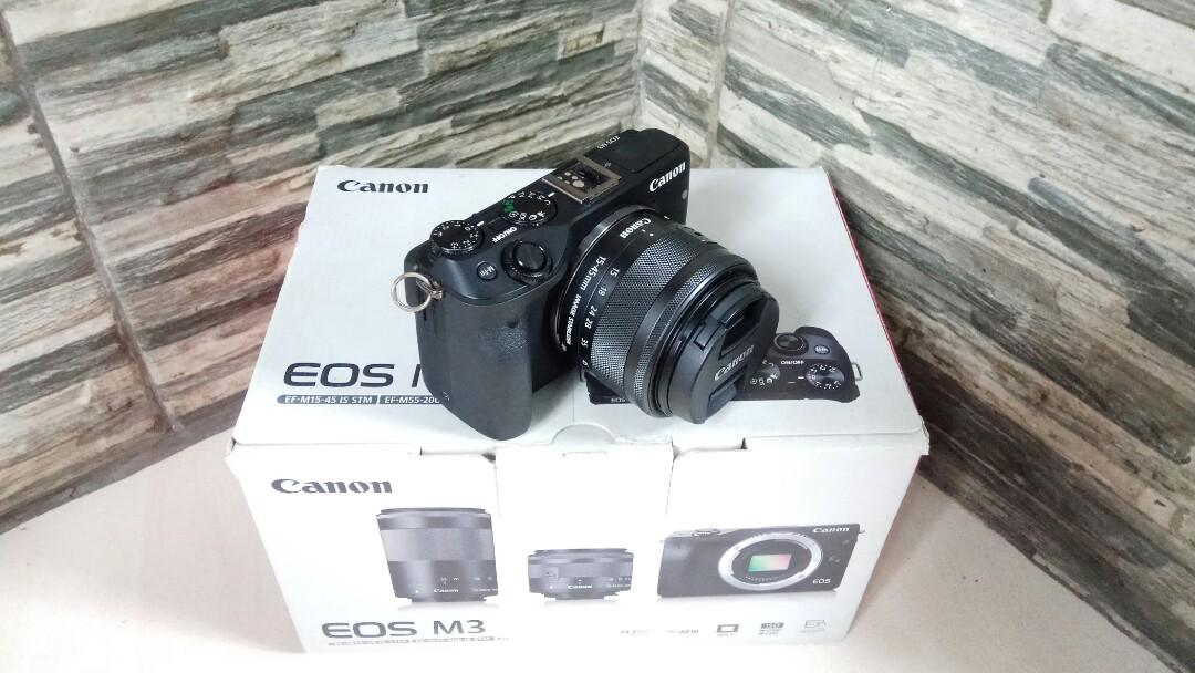 Canon EOS M3 lensa kit 15-45mm