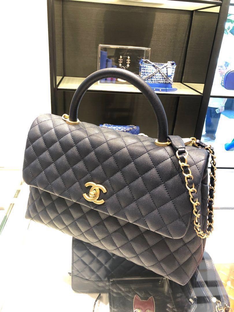 d545473d4cc0 Chanel Coco Handle Large (Bnib) Navy, Women's Fashion, Bags ...