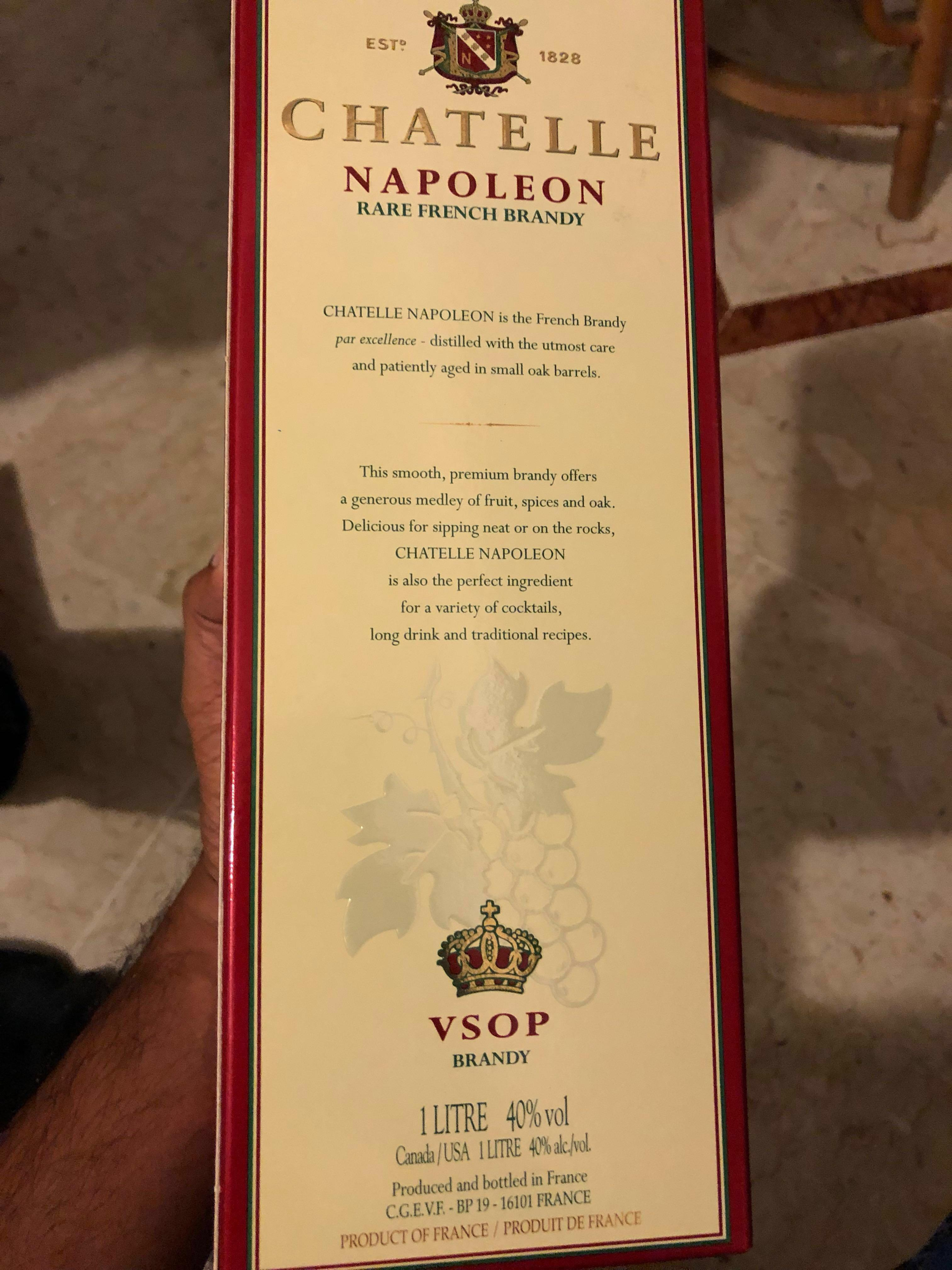 Chatelle VSOP brandy 1L. Free gift wrapping