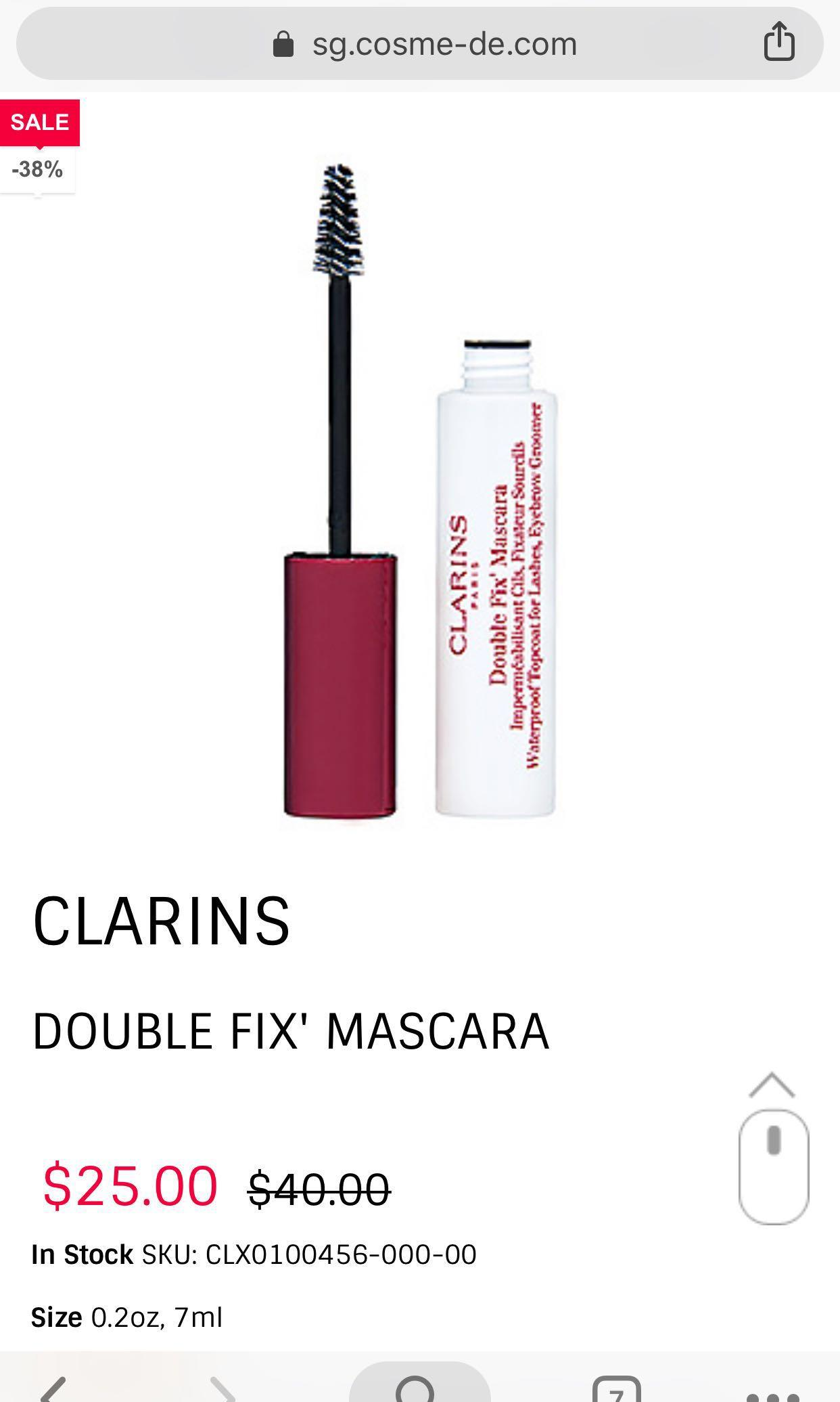 Double Fix Mascara by Clarins #8