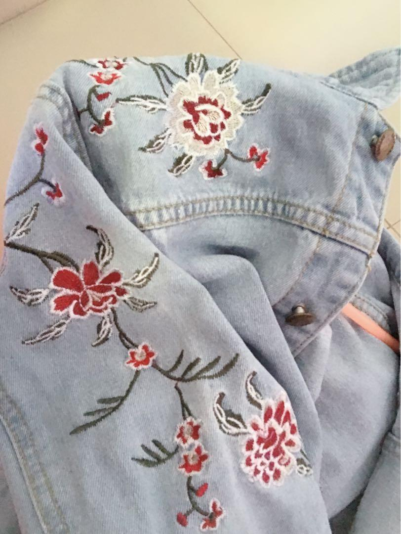 Denim Jacket floral