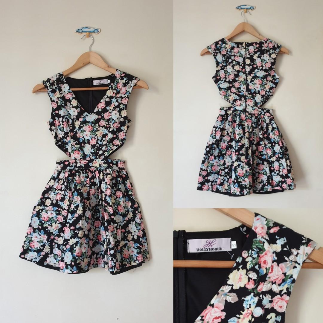 Floral Dress size cut off