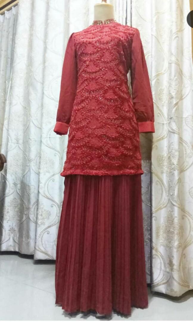 Gamis Pesta Muslimah Fesyen Wanita Muslim Fashion Lainnya Di Carousell