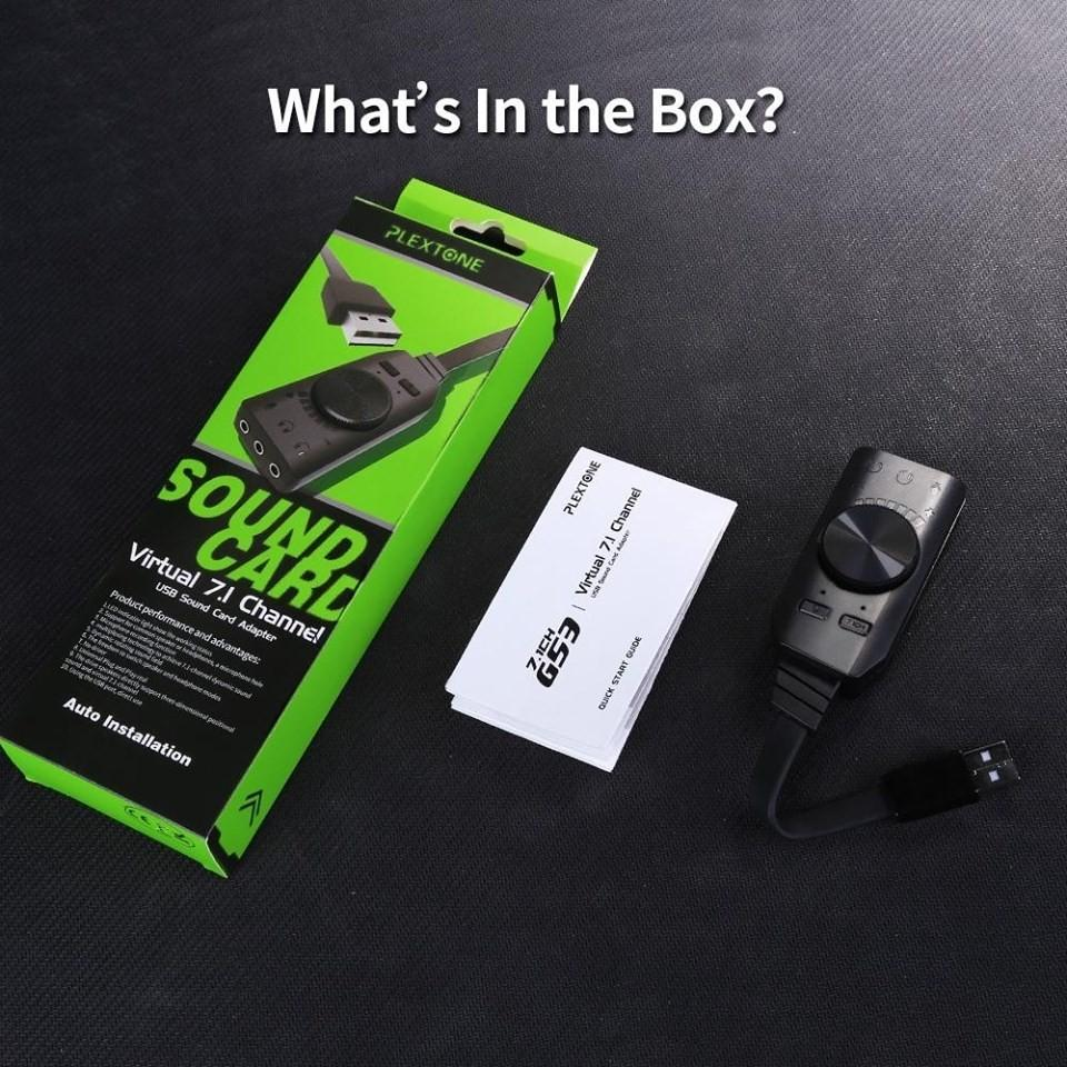 GS3 Virtual 7.1 Sound Card USB External Computer Game Sound Card