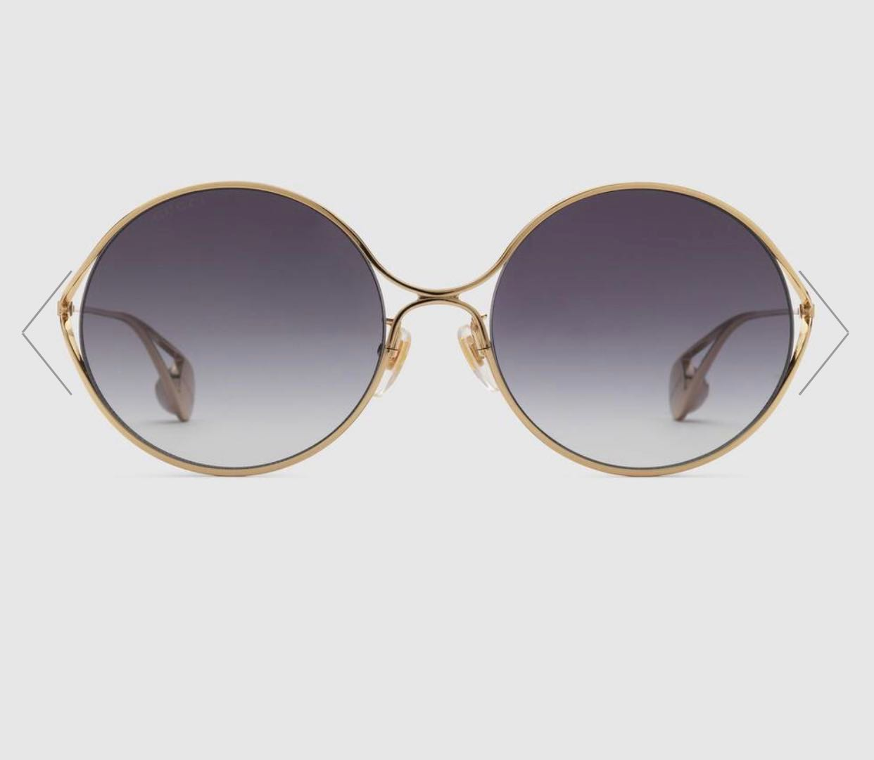 eef1d2d39 Gucci Round Frame Metal Sunglasses, Women's Fashion, Accessories ...