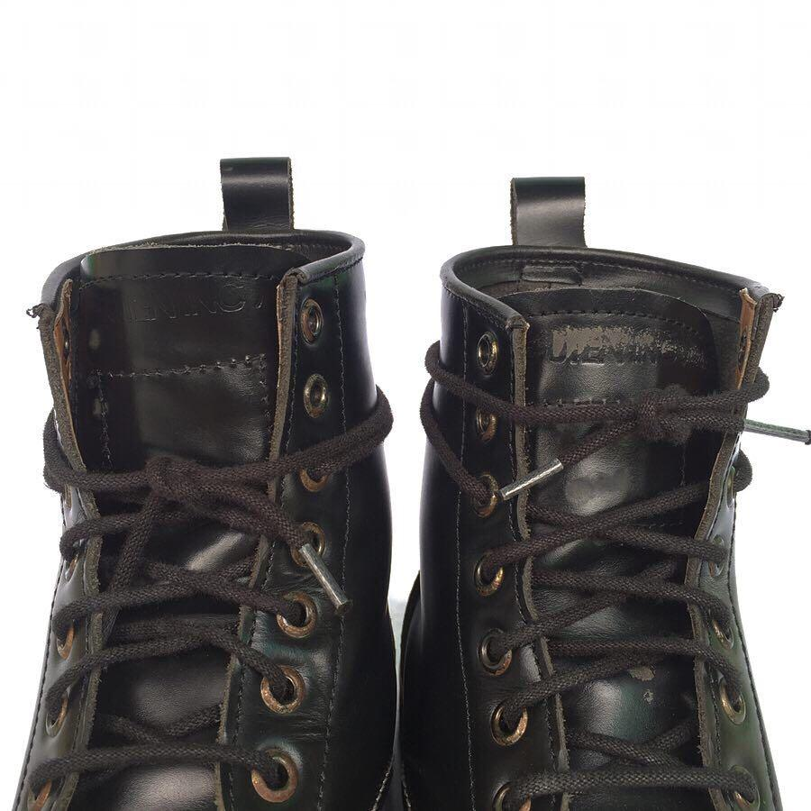 Guten Inc Leather Boots Black