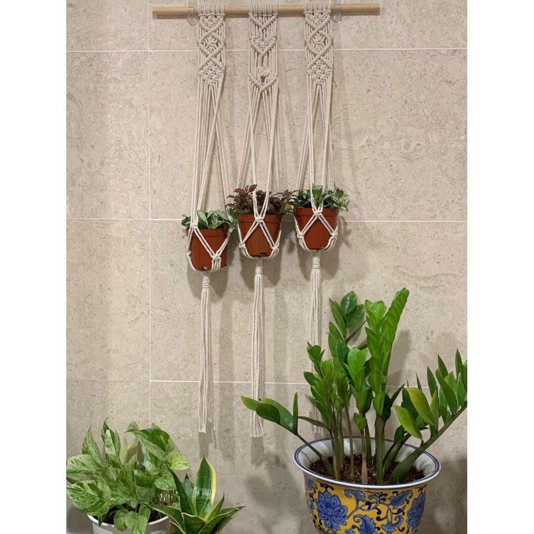 Handmade Macrame Plant Holder (010)