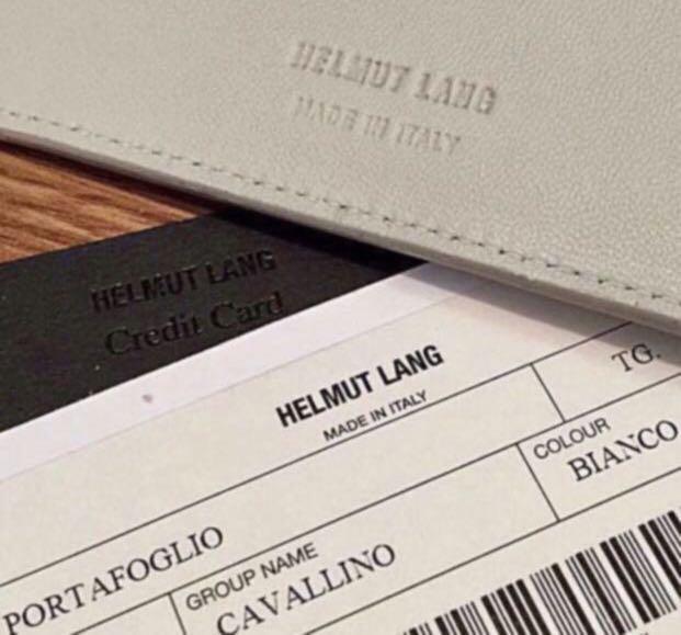 全新Helmut Lang 馬毛銀包 黑橡筋箍設計 男女合用 Italy名牌 Italy造