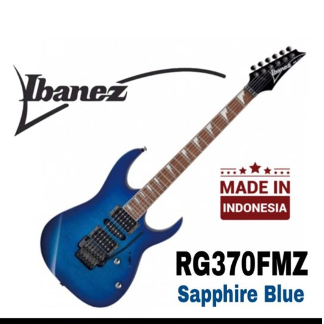 Ibanez RG370FMZ Electric Guitar, Sapphire Blue(SPB)