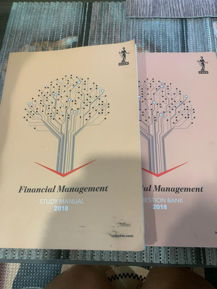 ICAEW professional - financial management 2018