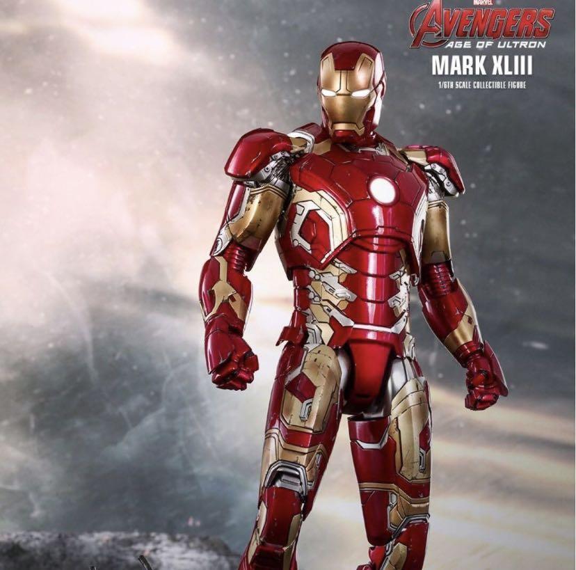 Iron Man Hot Toys Avengers AOU 復仇者聯盟 鐵甲奇俠 Mark XLIII 43 1/6 Hottoys figure 普通版