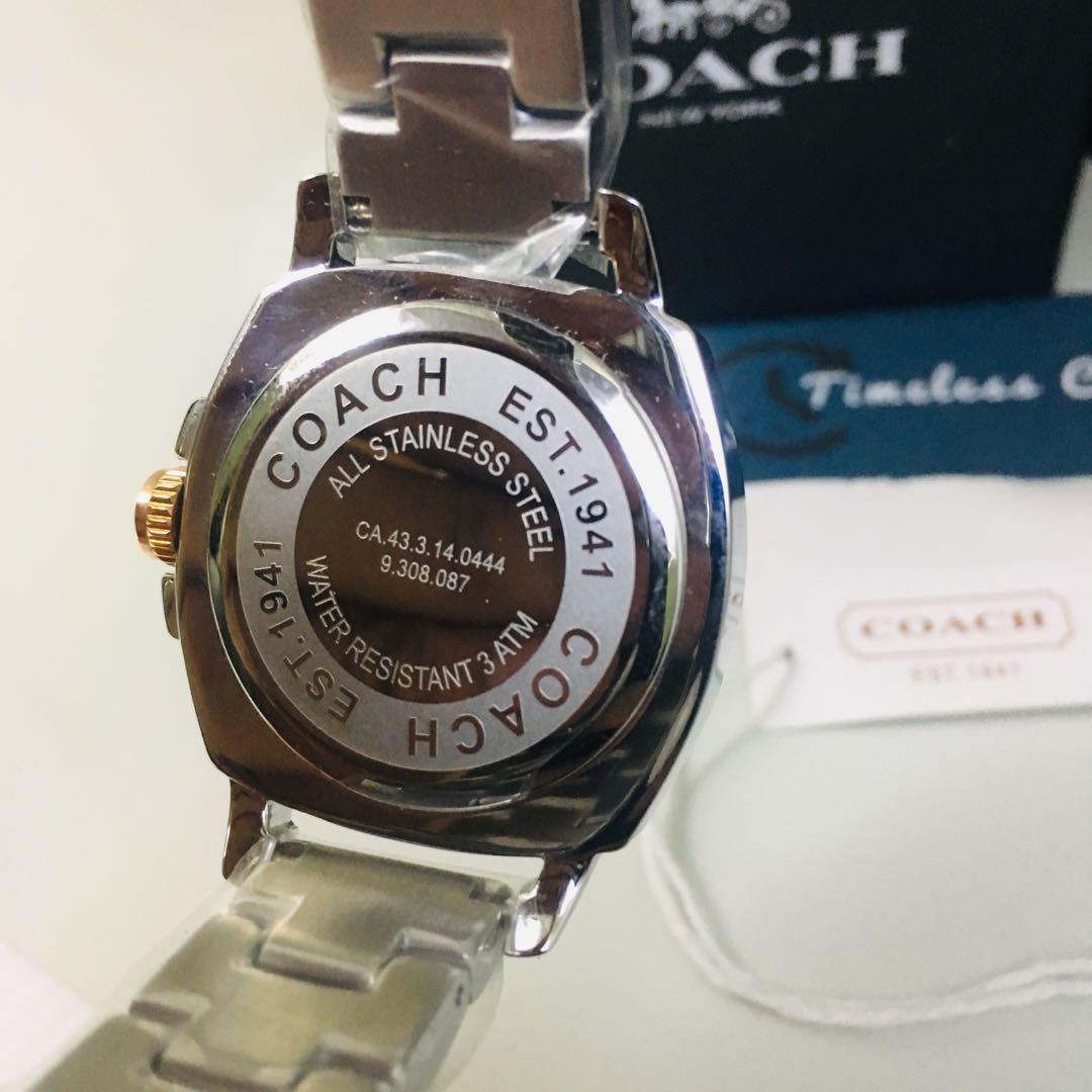 Jam Tangan Coach Diamond Bracelet Stainless Steel Original