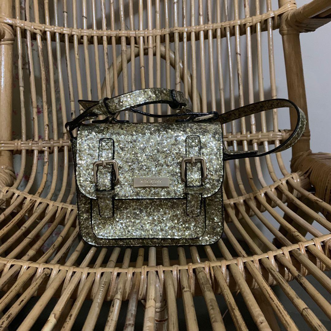 Kate Spade NWT Gold Glitter Crossbody Small Bag