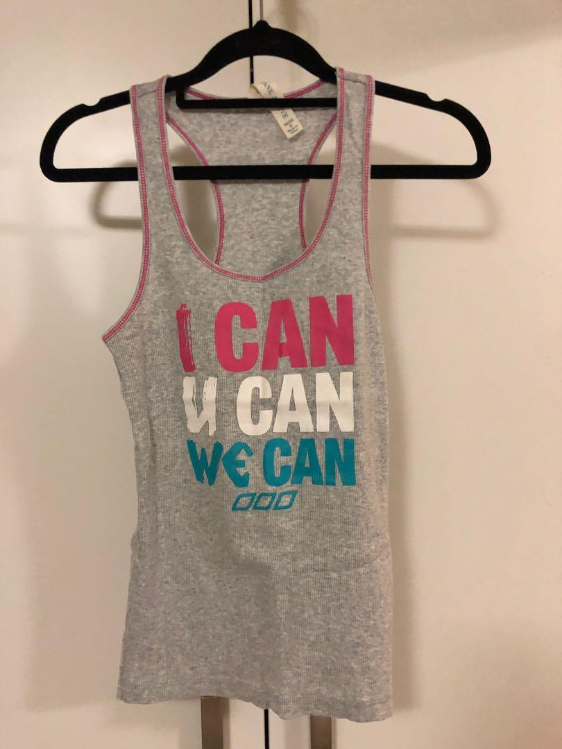 Lorna Jane small grey gym active singlet