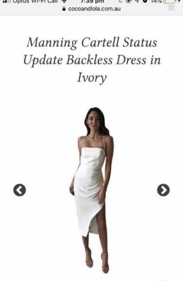 MANNING CARTELL status update backless dress ivory white