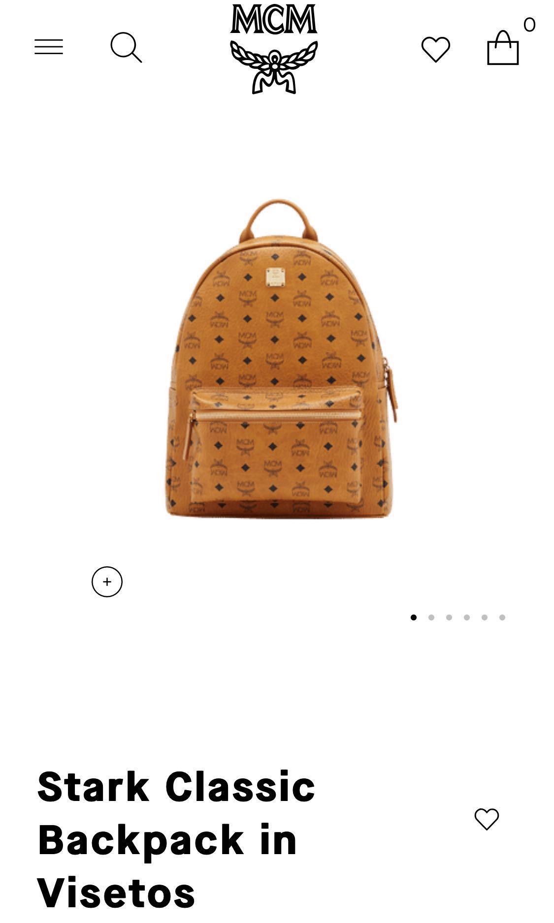 bec5c99a3 MCM Medium Stark Classic Backpack in Visetos, Luxury, Bags & Wallets ...
