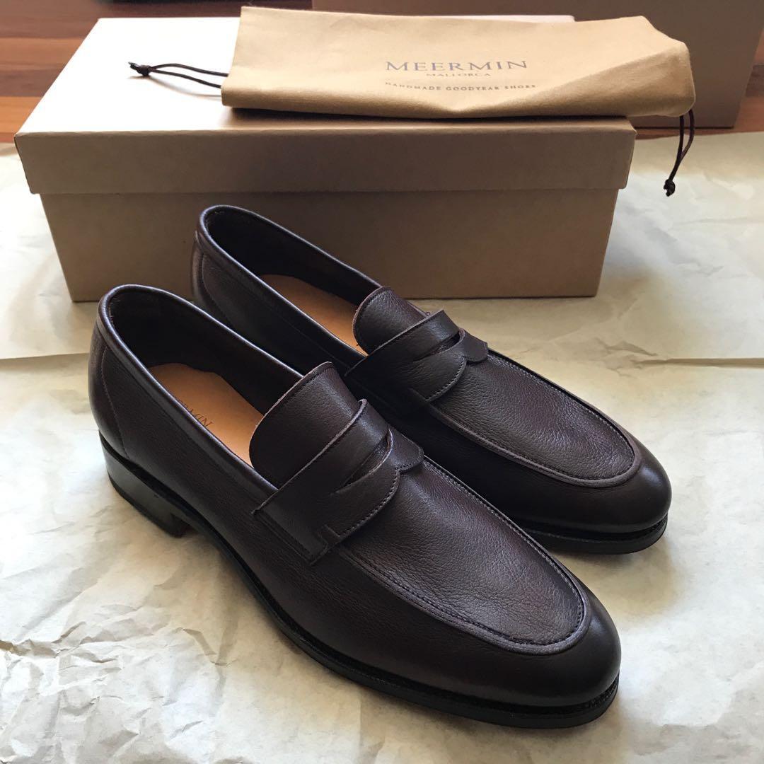 Meermin soft calf leather dark brown loafers - brand new unworn