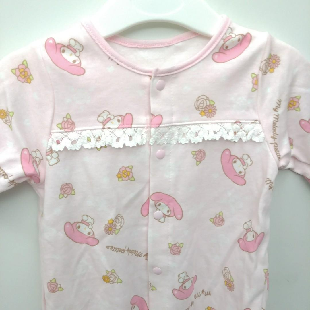 Melody sanrio 出口日本 西松屋 Elfindoll 初生嬰兒BB和尚袍 粉紅色夾衣/睡袋2用 全新 60-70cm