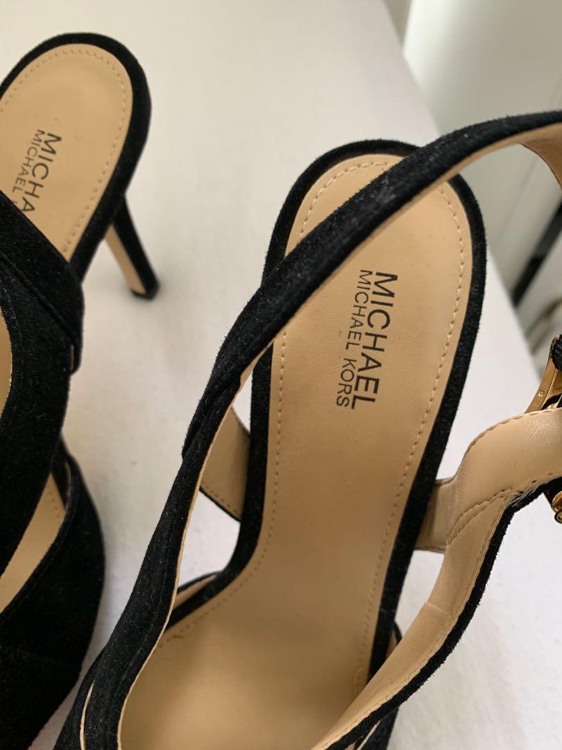 MICHAEL KORS Black suede shoes - 7.5 M size