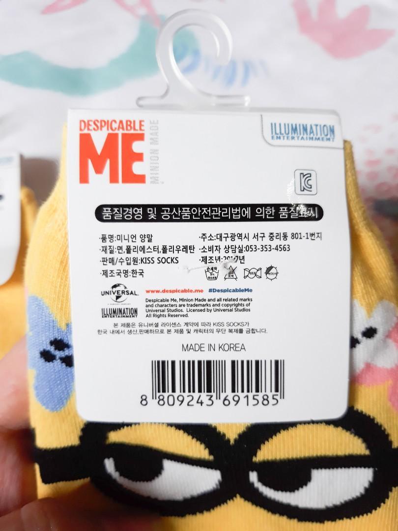 Minions Socks / Kaos Kaki Minions
