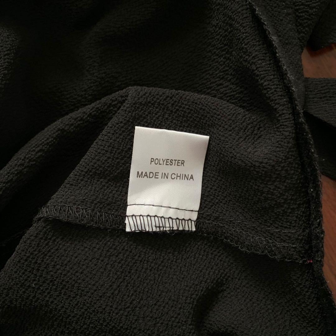 MorningMist Black Wrap Crop Size 6