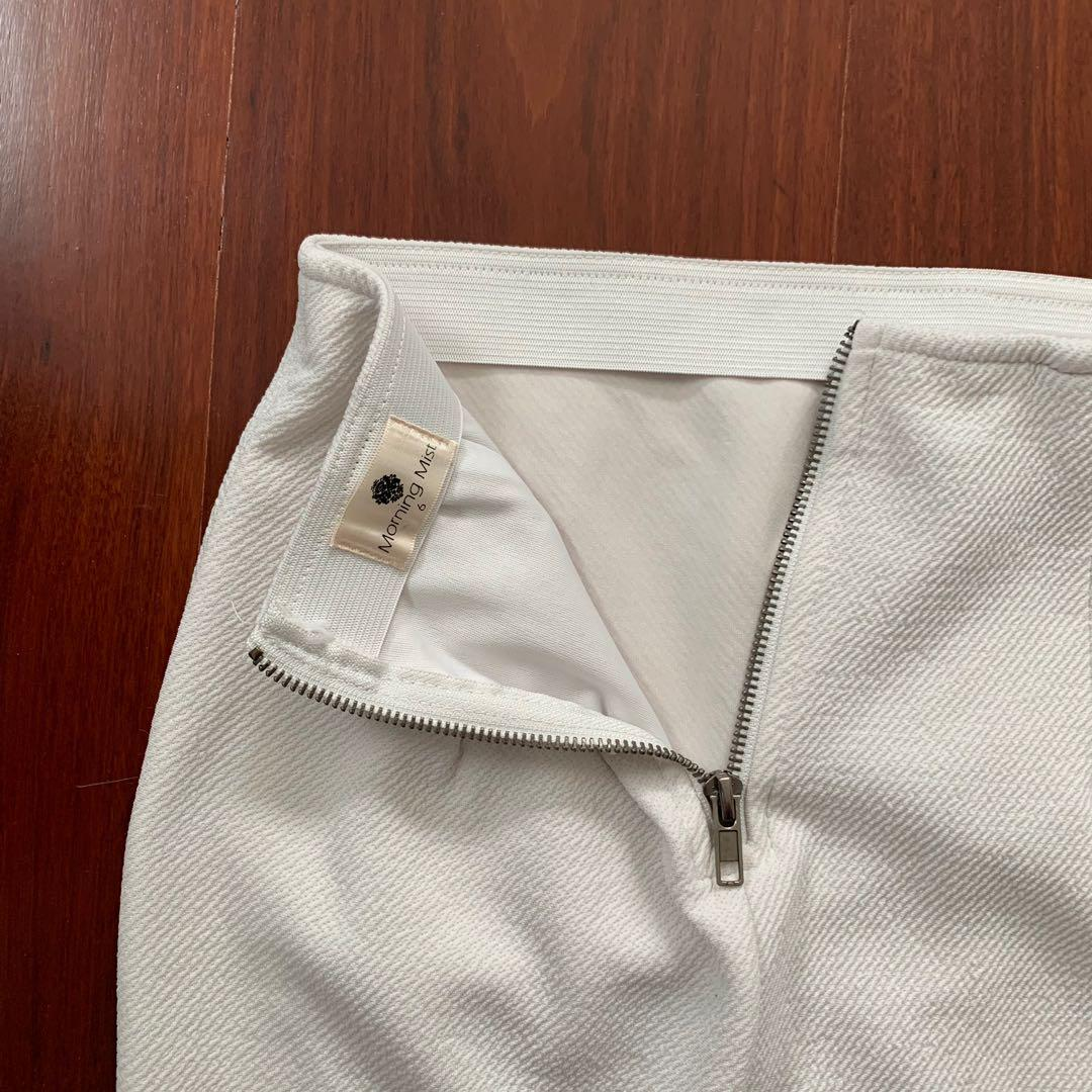 MorningMist White Mini Skirt Size 6