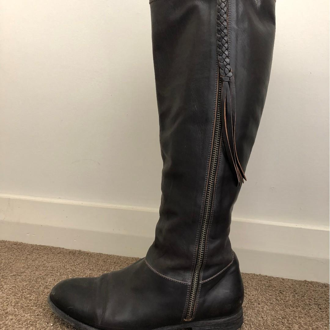 n.d.c. made by hand leather boots 8AU/38.5/8.5US USED
