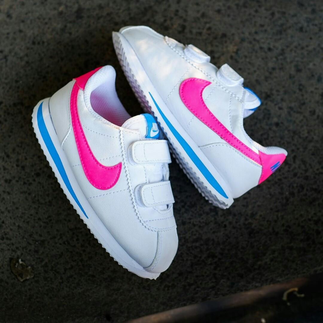 Nike kids Cortez White Pink 21,22,25,26