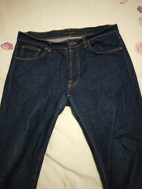 Nudie Lean Dean Dry 16 Dips (Dark Blue Raw Denim) W34 L32