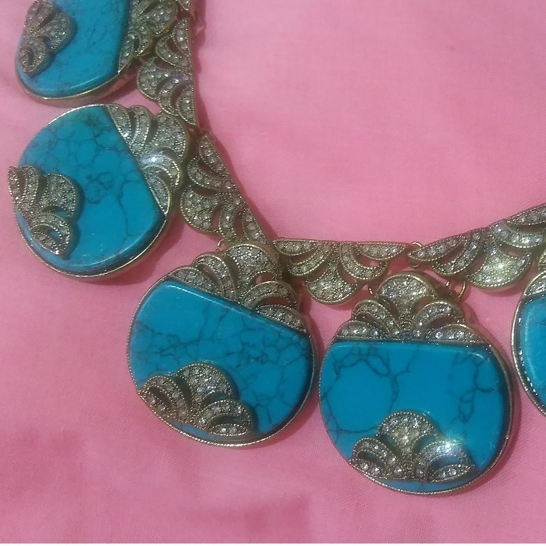 NWT SAMANTHA WILLS 'SUNDAY AT THE WINDSOR' STATEMENT NECKLACE