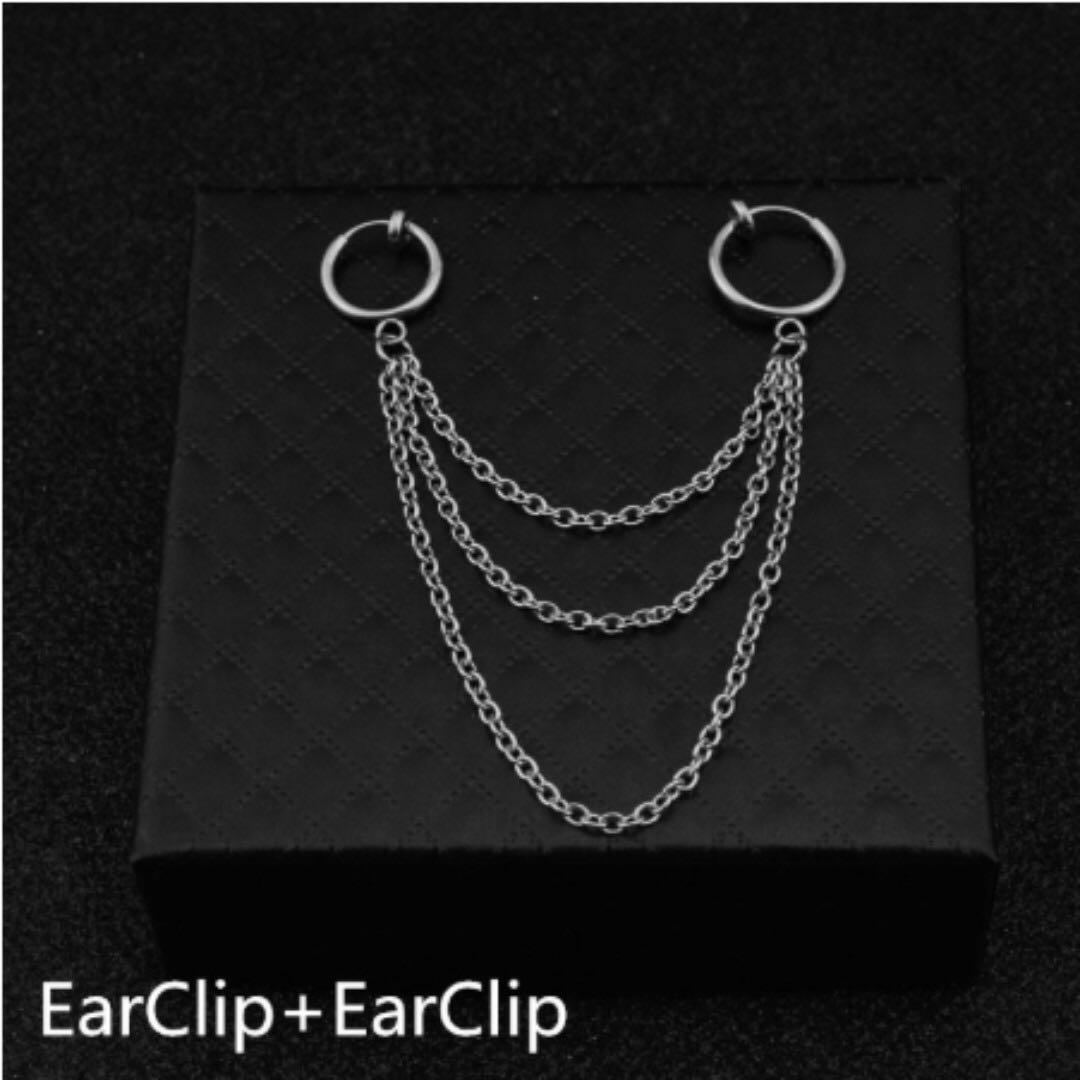 [OFFER: 2 FOR $8] Korean BTS jhope Simple Long Chain Earring / Clip on (PO)