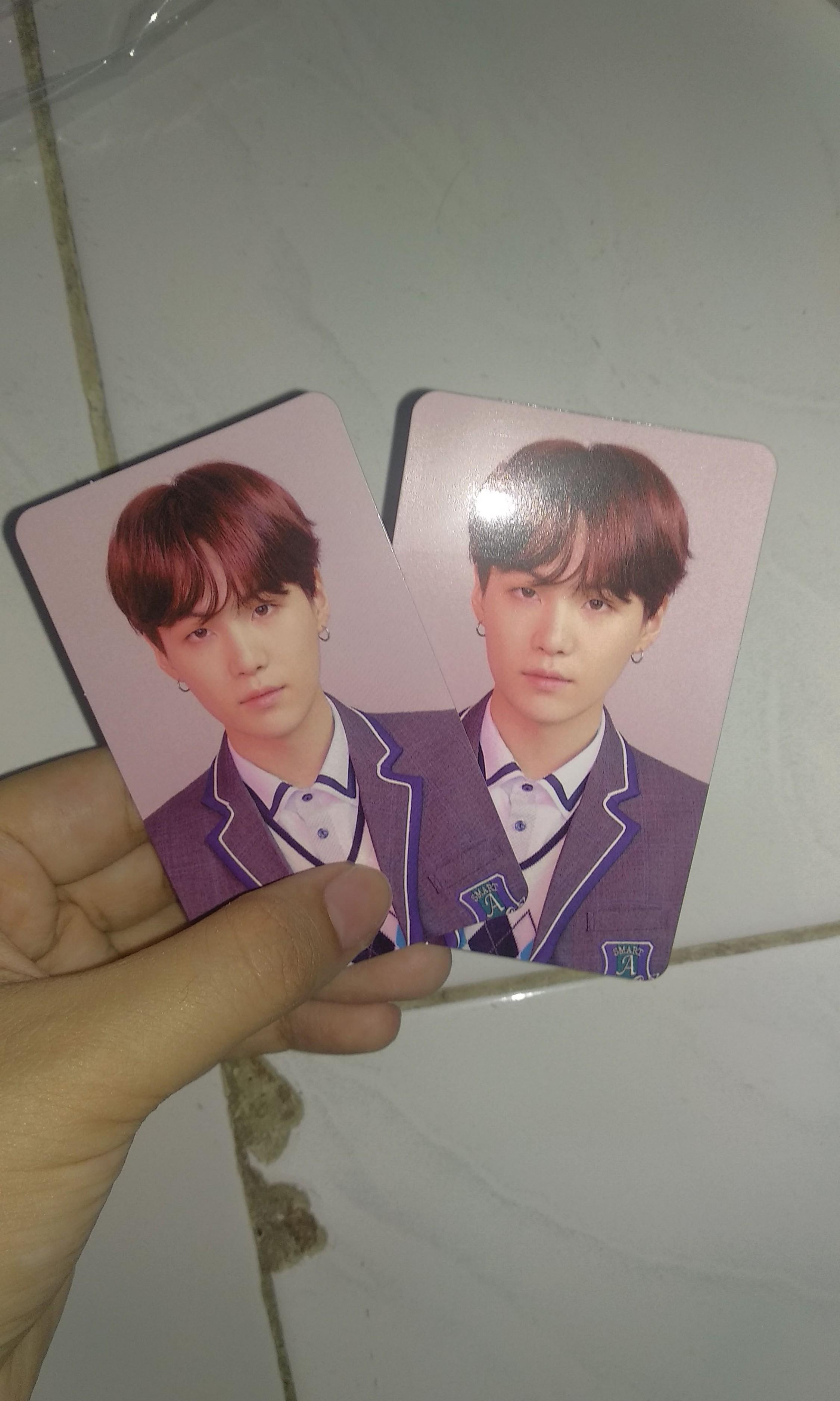 Photocard Suga Yoongi Love Yourself : Answer Official PC