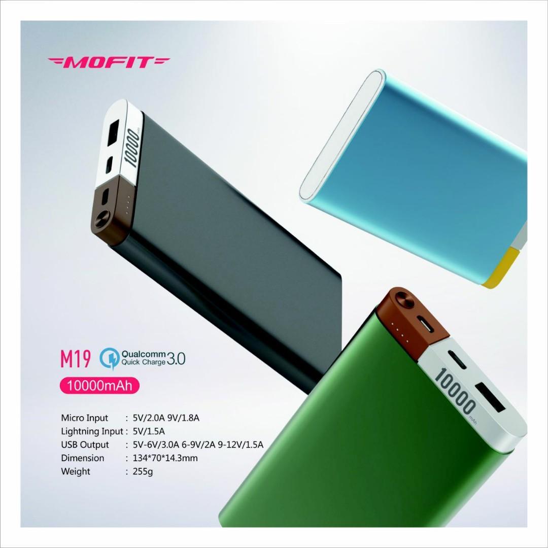 Powerbank mofit 10.000 MAH Fast charging