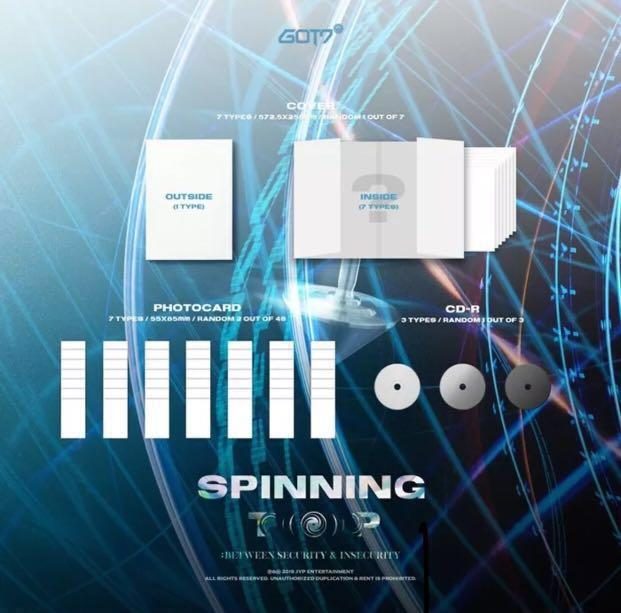 PREORDER  GOT7 갓세븐 -SPINNING TOP [SECURITY /INSECURITY ver.] +PREORDER BENEFITS