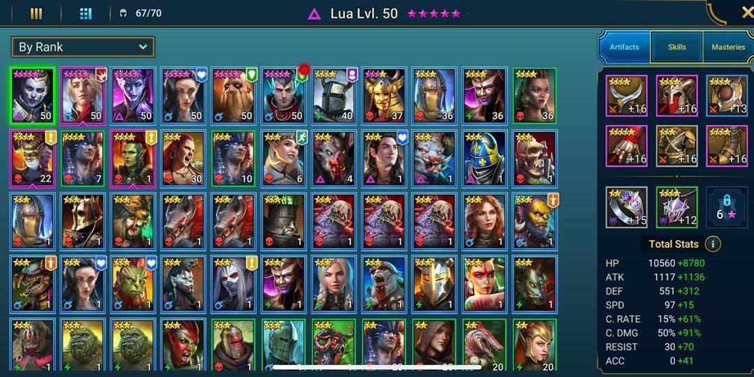 RAID: Shadow Legends Account