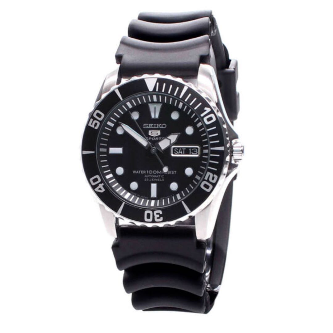 Sale Ramadan Free Postage Authentic Seiko 5 Sports Sea Urchin Automatic Men S Rubber Strap Watch Snzf17j2 Made In Japan