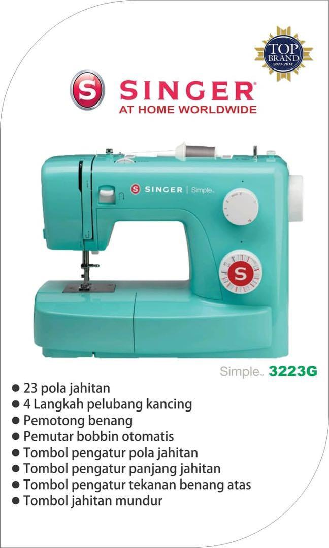 SINGER Simple Color 3223G Mesin Jahit Portable