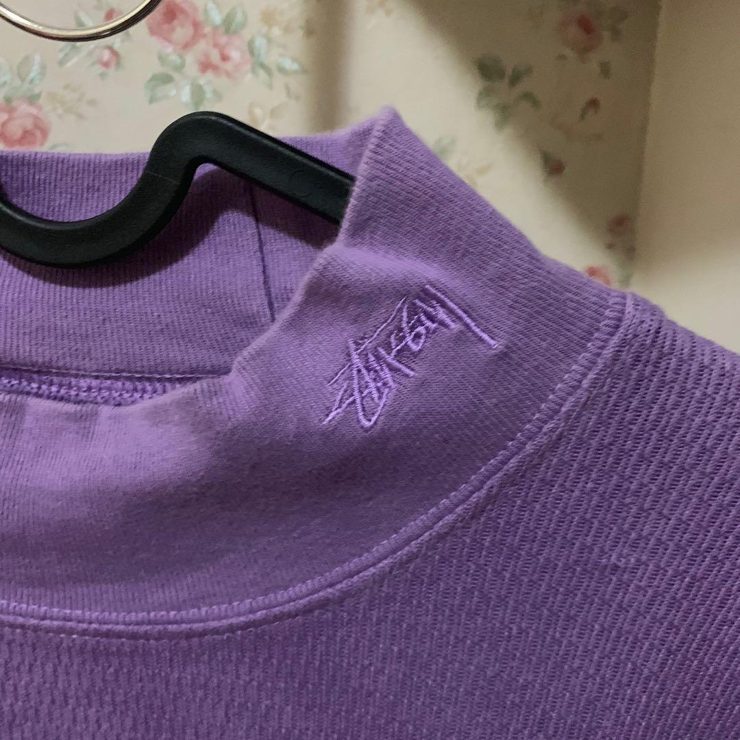 Stussy - Turtle Neck (purple & oversized)
