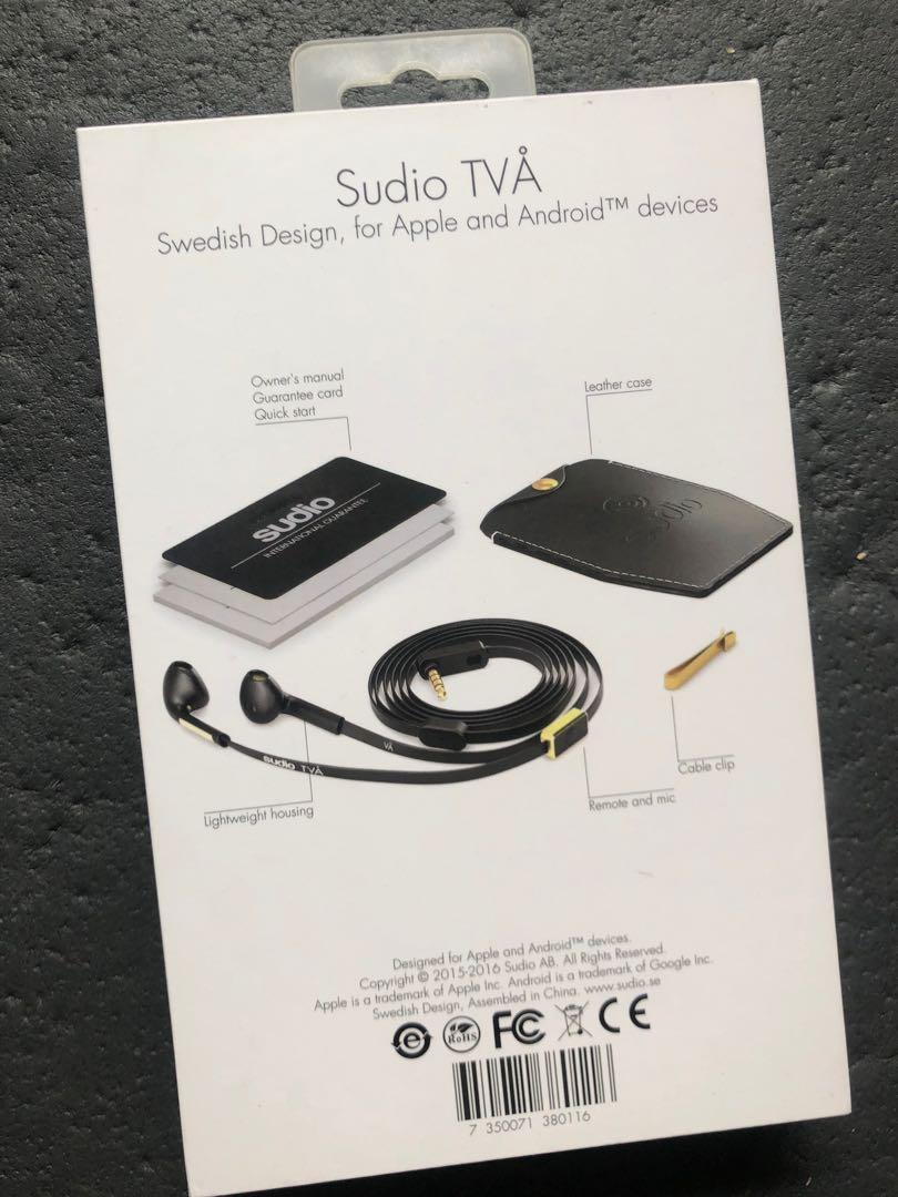 Sudio Tva 入耳式耳機🎧 有線朋友送未用過,有刻名,保養已過,介意慎入