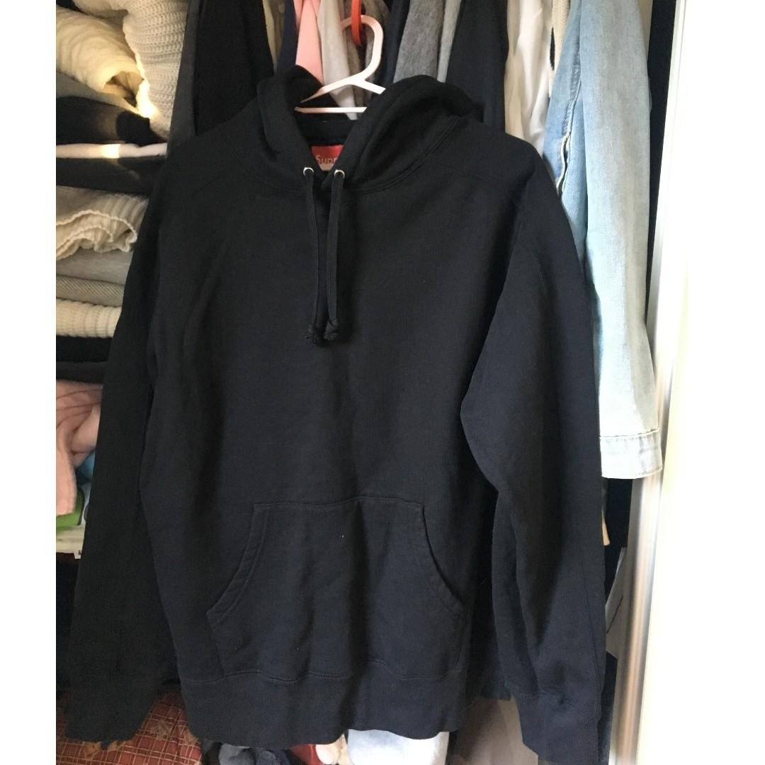 Supreme Paneled Hooded Sweatshirt Black SIZE SMALL NEW WITHOUT TAGS